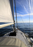 Inside sailboat. Inside a sailboat in the ocean Stock Images