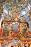 Inside of Saint Andrew's Church, Kyiv, Ukraine royalty free stock image
