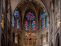 Inside Saint Catharine Church Stock Image