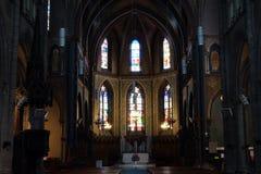 Inside Saint-Jacques church stock image
