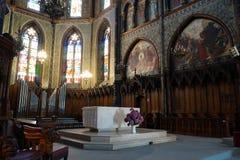 Inside Saint-Jacques church royalty free stock photos