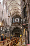 Inside the Saint Lorenz Church. Nuremberg. Germany royalty free stock photos
