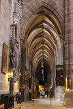Inside the Saint Lorenz Church. Nuremberg. Germany Royalty Free Stock Images