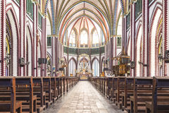 Inside of Saint mary cathedral. Royalty Free Stock Photography
