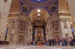 Inside Saint Peter's Basilica Royalty Free Stock Photo