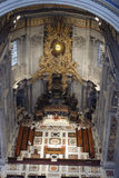 Inside Saint Peters Cathedral, Rome, Italy Stock Image