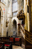 Inside saint vitus cathedral 2. Inside saint vitus cathedral in prague, czech republic Royalty Free Stock Photo