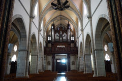 Inside Sainte Marie Madeleine church Royalty Free Stock Image