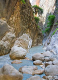 Inside Saklikent canyon, Turkey Royalty Free Stock Photo