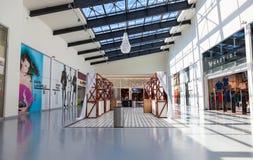 Inside of the Samara hypermarket Ambar. The one of largest shopp Royalty Free Stock Photo