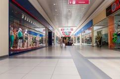 Inside of the Samara hypermarket Moskovsky Stock Images