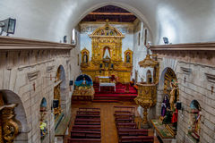Inside San Diego church showing perspective of Royalty Free Stock Images