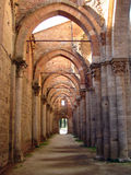 Inside San Galgano Royalty Free Stock Images