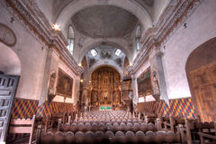 Inside San Xavier Misson. Historical mission standing in the sonoran desert south of Tucson Arizona inside a Native American reservation royalty free stock photos