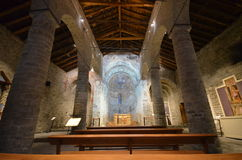 Inside the Sant Climent chruch Stock Photography