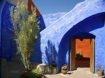 Inside Santa Catalina monaster, Arequipa Zdjęcia Royalty Free
