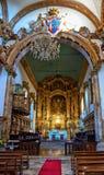 Inside Santa Maria do Bouro church in Amares royalty free stock photography