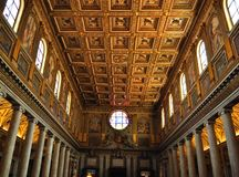 Inside of Santa Maria Maggiore in Rome Royalty Free Stock Image