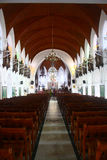 Inside of Santhome Basilica Church at India Stock Photo