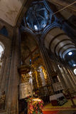 Inside Santiago Cathedral Stock Photo