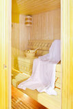 Inside sauna Royalty Free Stock Image