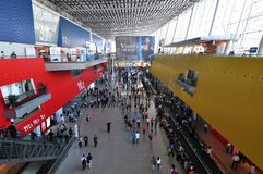 Inside scene of 110th Canton Fair. The 110th Canton Fair, officially known as the China Import and Export Fair, opened at  the Pazhou Complex, in the city of Royalty Free Stock Photos