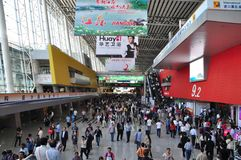 Inside scene of 110th Canton Fair Royalty Free Stock Photos