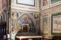 Inside of Scrovegni Chapel in Padua Royalty Free Stock Photography