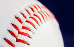 Inside of a seam. Particular of a seam of a baseball ball. Detail extractor version Royalty Free Stock Image
