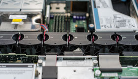 Inside of server pc. Royalty Free Stock Photography