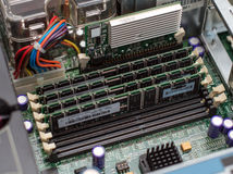 Inside of server pc. Stock Images