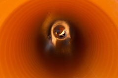 Inside Sewer Pipe Royalty Free Stock Photo