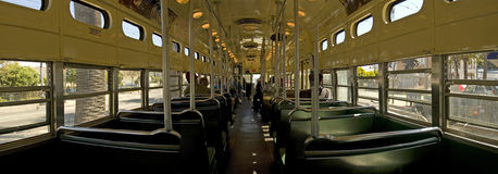 Inside the SF troley Royalty Free Stock Image