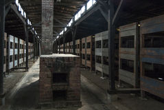 Inside of a shack of the concentration camp of birkenau poland europe Stock Photos