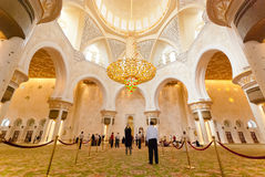 Inside the Sheikh Zayed Grand Mosque Royalty Free Stock Images
