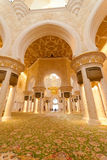 Inside the Sheikh Zayed Grand Mosque Stock Photo