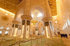 Inside the Sheikh Zayed Grand Mosque Royalty Free Stock Photo