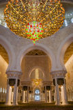 Inside of Sheikh Zayed Mosque at Abu-Dhabi, UAE, Uniter Arab Emirates Stock Photos