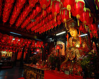 Inside Shi Lin Mazu Temple Stock Photos