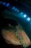 Inside ship wreck Royalty Free Stock Photo