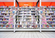 Inside shop of DVDs Stock Photos