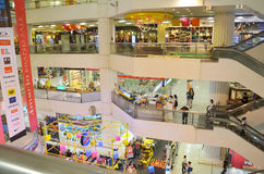 Inside a shopping mall in Bankok stock images