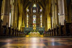 Inside shot of Zagreb cathedral. In Zagreb, Croatia Royalty Free Stock Photos
