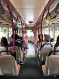 Inside Singapore Public Bus Transport Stock Images