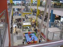 Inside SM city mall, Calamba, Philippines. Inside the SM city shopping mall in Calamba, Luzon province, Philippines stock photography