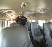 Inside small airplane on Hawaii flight Royalty Free Stock Photography