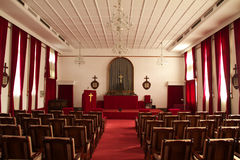 Inside small church Stock Photo
