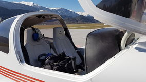 Inside a small plane Royalty Free Stock Image