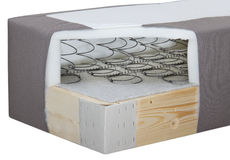 The inside of a soft bed Stock Image