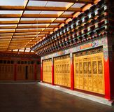 Inside Songzanlin Lama Tibetan Temple in Zhongdian or Shangli La. City. Travel in Zhongdian City , Yunnan Province, China in 2012, November 15th Royalty Free Stock Photos